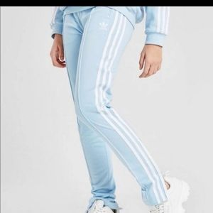 Baby Blue ADIDAS Superstar Track Pants